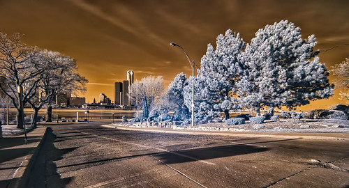 """Detroit Skyline Infrared • <a style=""""font-size:0.8em;"""" href=""""http://www.flickr.com/photos/76866446@N07/16715065497/"""" target=""""_blank"""">View on Flickr</a>"""