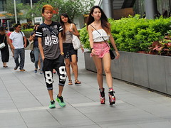 Street Fashion (-Faisal Aljunied - !!) Tags: street people fashion asian photography singapore asia flickr boots streetphotography streetscene olympus streetfashion pinkshorts streetphotographer m43 primelens streetsnap streetshooter aljunied flickriver micro43 microfourthirds olympusprimelens olympusstreetphotography mzuikolenses olympusomdem5 omdem5 olympusmzuiko75mmf18ed faisalaljunied