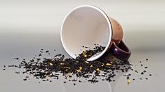 May I offer you a cup of tea [Explored 2015-04-05] (kaffealskare) Tags: macro cup closeup tea mug te makro tealeaves närbild explored narbild teblad theenchantedcarousel fotosondag fs150405