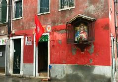 Sacro e Profano (Badil) Tags: venice red italy italia religion venezia comunism contrasti sacredandprofane falceemartello sacroeprofano cattocomunismo jesusmarx