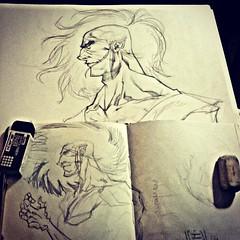 wip1 (fixionauta) Tags: comics square sketch vertigo sketchbook squareformat canson unknown sandman neilgaiman iphoneography instagramapp uploaded:by=instagram