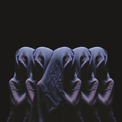 Cult Following (Richard John Pozon) Tags: art idea weird surreal masks suffocate conceptualphotography