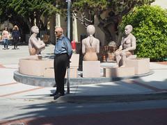 The People's Council (ponzü) Tags: california sculpture art bronze oldman sundial granite publicart lagunabeach photowalking lrexportviajf plfw10