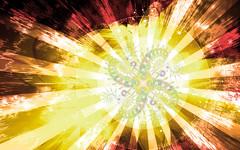 Cosmic Solar Fern Flare 2 (Shawn Dall) Tags: red orange sun white fern color colour art yellow digital stars photography solar heaven space flare fractal shawn galaxies universe artforsale cosmic buyart shawndall chronamut