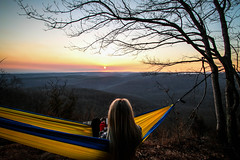 (nelson_chaz) Tags: sunset girl canon outdoors spring girlfriend hiking wideangle lookout chilling hammock blonde whiterock arkansas ozarks chill rollinghills springtime grandtrunk canonshot 70d 1024mm canon70d