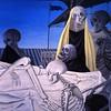 Paul Delvaux 1951 La mise au tombeau (détail)