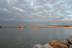 Marina di Pisa- Boccadarno (Alidada) Tags: sunset sea river seaside mare fiume pisa porto arno marinadipisa tirreno boccadarno trabucchi