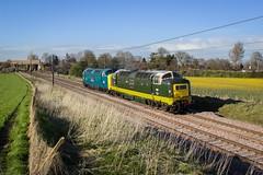 D9009 & 55019 (deltic17) Tags: 6 3 heritage train power diesel loco locomotive napier britishrail dps mainline deltic 2stroke 300hp alycidon 600hp d9009 55019 d9019 55009 delticpreservationsociety twotonegreen prerved brbluie royalhighlandfusileer