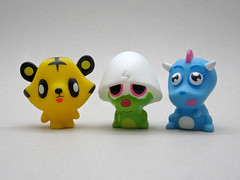 Moshi Monsters Squeaker Set (The Moog Image Dump) Tags: cute set toy toys vivid kawaii monsters moshi figures squeaker squashi