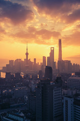 Oriental Sunrise (L-E-N-G) Tags: life china city travel sky sun tower architecture sunrise asia shanghai wide scene impressed gettyimages lujiazui