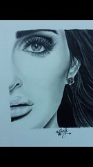 Loved the pic and had to draw her. (davidjay6) Tags: portrait art beauty pencil charcoal selftaught myart mywork graphite lillie realism portraitdrawing