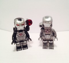 War machine new & old (necheporenco) Tags: lego ironman civilwar marvel warmachine roudi legocivilwar legoironman legomarvel teamironman