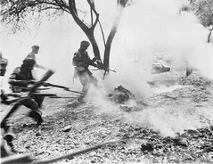 Men of a Sikh regiment clear a Japanese foxhole at Mandalay with machine gun fire after throwing in a phosphorus grenade, March 1945 [800x615] #HistoryPorn #history #retro http://ift.tt/1XVpr4k (Histolines) Tags: men history fire japanese march gun with machine retro clear timeline after sikh grenade 1945 mandalay throwing foxhole regiment phosphorus vinatage historyporn histolines 800x615 httpifttt1xvpr4k