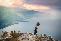Windy Emotions (Mattia Bonavida) Tags: travel friends summer italy woman lake mountains tourism nature landscape outdoors spring model nikon garda flickr italia nightscape hiking tourist national fantasy trento peaks nikkor exploration cloudscape geographic trentino gettyimages nn rivadelgarda naturelover nital nikonians explored trentinoaltoadige nikonclub nikonusa nikonitalia nikonflickraward nikoneurope mattiabonavida nikonnofilter