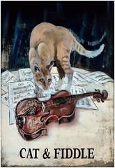 pub signpost (Duncan the road rebel) Tags: sign cat fiddle signpost catandfiddle pubsignpost