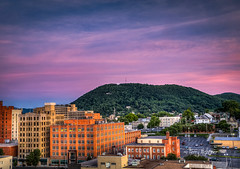 Roanoke Star Changes Color To Show Support For Orlando (Terry Aldhizer) Tags: city sunset sky mountain mill colors clouds buildings star virginia orlando twilight support roanoke terry change aldhizer wwwterryaldhizercom
