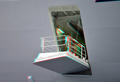 MS Harmony of the Seas 3D (wim hoppenbrouwers) Tags: 3d rotterdam anaglyph stereo wilhelminapier redcyan msharmonyoftheseas