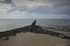 Storm Clouds (scottnj) Tags: storm beach clouds bay sand rocks jetty stormclouds scottnj cy365 scottodonnellphotography reddit365 redditphotoproject