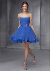Charming Organza & Tulle & Satin Sweetheart Neckline Short A-line Homecoming Dress (miyadresses2016) Tags: homecomingdrsss bluedress elegantdress formaldress prettydress shortdress promdress