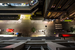 nevermind (keith midson) Tags: road street city urban car vertical hotel melbourne down aerial flinderslane