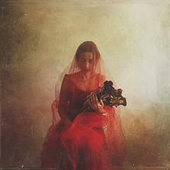 blood wedding (sole) Tags: depression darkphotography dark mujer autoretrato selfportrait model carmengonzalez sole fineart woman redveil veiledwoman veil sadness red bride