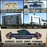 """Help you business stand out from the rest with a custom sign! Check out this before and after picture of an 8' x 4' sign we did for Green Gables Marina <a style=""""margin-left:10px; font-size:0.8em;"""" href=""""https://www.flickr.com/photos/99185451@N05/27596695401/"""" target=""""_blank"""">@flickr</a>"""