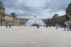 Pyramide du Louvre- JR au Louvre (CamJrOff) Tags: france paris arcdetriomphe town city old road life art photographie pic picture architecture louvre pyramide sculpture batiment jr g7x
