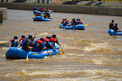 Heading to the conveyor belt for another go (radargeek) Tags: whitewater district rafting okc boathouse