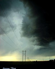 Oklahoma Storm (moniquef123) Tags: sky storm oklahoma nature weather clouds rural dark landscape ominous thunderstorm weatherphotography therebeastormabrewin