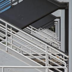 stairs to the left (dan.boss) Tags: stairs stadium athens olympic banister aquaticcentre