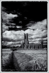 Ballinafagh Church 2 (johnhig89) Tags: ireland blackandwhite clouds digital ie kildare 2016 niksoftware blackandwhiteireland blackblurphotography silverefexpro2 fujix100 ballinafaghchurch