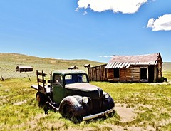living with the past....(HTT) (BillsExplorations) Tags: california statepark old abandoned truck vintage rust antique abandonedhouse ghosttown bodie v8 nationalregisterofhistoricplaces truckthursday