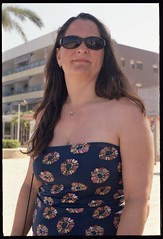 Spain 2016 - Kodak Retina Ib (Type 018 Chrome Dot) - My lovely wife Lisa at Calpe (TempusVolat) Tags: holiday spainholiday spain 2016 spain2016 gareth wonfor tempus volat mrmorodo tempusvolat garethwonfor kodak retina ib vintagecamera film 35mm holidaysnaps summerholiday summer wife woman girl brunette beautiful beauty pretty beautifulwife beautifulwoman prettywife attractive sunlight sunset sunlithair hair lovelywife mywife mygirl gorgeouswife lovelylisa prettylisa goodlooking goodlooks spouse lover lovely love allure elegant boobs voluptuous boob breast breasts demure shapely curvy lisa curvaceous lisawonfor sunglasses boobtube shoulders chest necklace calpe vacance
