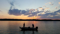 Just a few more casts... (SaltyDogPhoto) Tags: sunset sky lake reflection water beautiful beauty silhouette photography evening boat fishing fisherman sundown pennsylvania samsung pa boating leisure activity berkscounty photooftheday bluemarsh bassboat sunsetsilhouette samsungs6 saltydogphoto