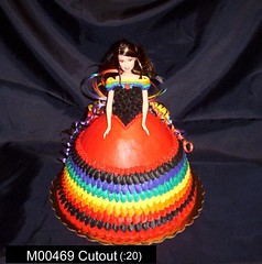 M00469 (merrittsbakery) Tags: cake shaped barbie doll latina birthday quinceanera quinceañera
