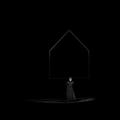 () Tags:    black romantism gothic    grain vignette  red  wall   ghost   doors  gift  horizon monochrome   blackandwhite street  surreal intriguing  life music background