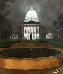 Capitol night (Digital_Third_Eye) Tags: camera wisconsin flickr madison app iphone 2015 danecounty wiscosnin
