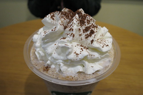 Chunky Cookie frappuccino with chocolate chip