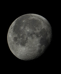 Waning Gibbous Moon 8th March 2015 (David Blanchflower) Tags: sky moon night canon space telescope astrophotography astronomy gibbous waning skywatcher