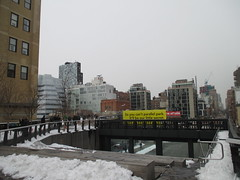 High Line Snow Covered Railroad Overpass Tracks to Nowhere 8600 (Brechtbug) Tags: road park street new york city nyc railroad winter urban snow streets west art architecture garden way design march high downtown gallery path walk manhattan district balcony packing side nowhere tracks overpass rail pedestrian mini el meat line midtown covered mezzanine transportation boardwalk former elevated blizzard derelict reclamation highline skyway redesign the remodeled 2015 03072015