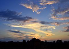 sunset ower town