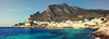 View of fishing village on Levanzo (Egadi Islands) (Tola Akindipe (1st account)) Tags: blue sea italy mountain mediterranean sicily sicilia mediterraneansea fishingvillage levanzo egadiislands