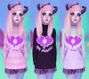 Go Away 3 (ẕøḓїαḉ) Tags: sweater pastel secondlife kawaii turtleneck bitchy blackmoon pastelgoth