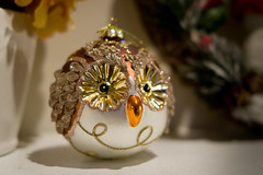 IMGP0375.jpg (PenTex) Tags: christmas xmas winter holiday silly cute bird closeup glitter season toy happy bigeyes evening shiny december looking shaped decoration beak feather craft shelf celebration ornament sphere owl christmasdecoration glowing ornate figurine decor brilliant 5stars