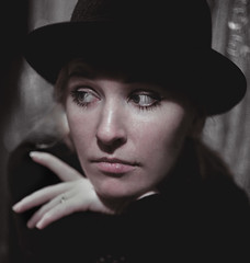 Portrait of Olga (winzor2007) Tags: portrait woman hat pose eyes mood sight emotions volzhsky alexanderbaranov