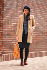 Emma 1 (The Style Collector) Tags: street winter woman girl fashion asian shoes coat taiwan style taipei beret fashionista handbag zara stylish streetwear streetfashion streetstyle fashionstyle