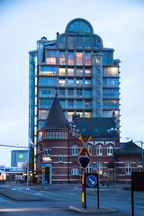 Blue Hour in the City (Infomastern) Tags: building architecture bluehour malm arkitektur byggnad slagthuset bltimmen