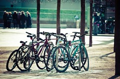 The Gathering (The Green Album) Tags: people london bike cross group bicycles collection kings together gathering granary chained huddled