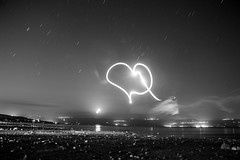young love (lir segev) Tags: longexposure blackandwhite landscape blackwhite flash bh lightpanting