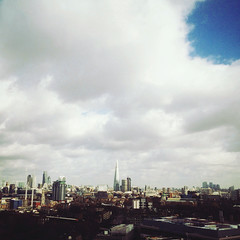 The Shard (Olly Denton) Tags: uk roof light sky london westminster architecture clouds spring view shard lambeth iphone rooves theshard vsco vscocam